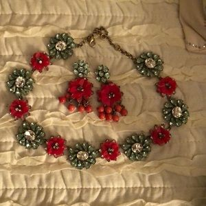 Ann Taylor necklace and earring set
